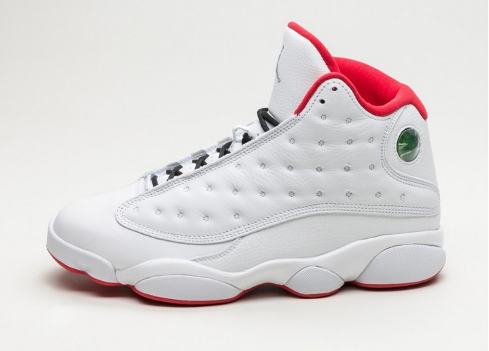 Мужские кроссовки Nike Air Jordan 13 Retro *History of Flight* (White / Metallic Silver - University Red) | Интернет-магазин Sole