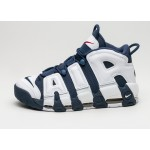 Мужские кроссовки Nike Air More Uptempo *Olympic* (White / Midnight Navy - Metallic Gold), фото 1 | Интернет-магазин Sole