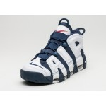 Мужские кроссовки Nike Air More Uptempo *Olympic* (White / Midnight Navy - Metallic Gold), фото 2 | Интернет-магазин Sole