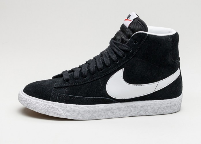 Мужские кроссовки Nike Blazer Mid PRM (Black / White - Gum Light Brown) | Интернет-магазин Sole
