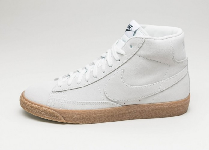 Мужские кроссовки Nike Blazer Mid PRM (Off White / Off White - Gum Light Brown) | Интернет-магазин Sole