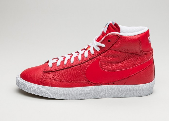 Мужские кроссовки Nike Blazer Mid PRM (Game Red / White - Black - Gum Light Brown) | Интернет-магазин Sole