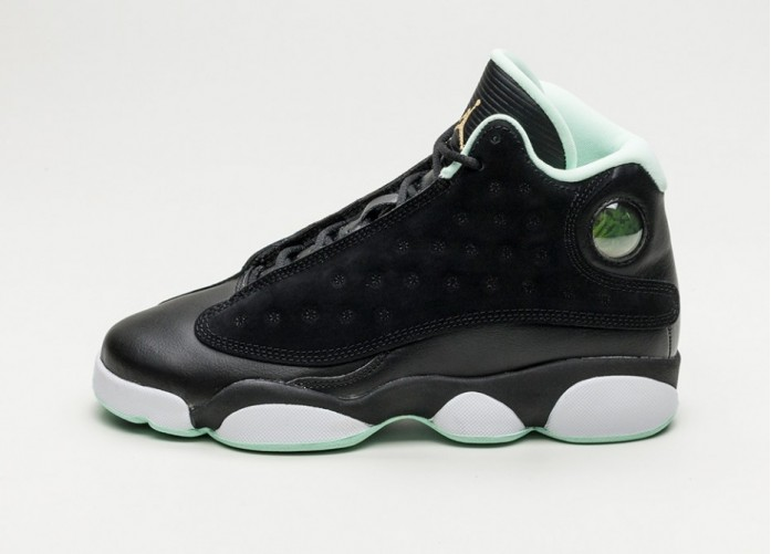 Мужские кроссовки Nike Air Jordan 13 Retro GG (Black / Metallic Gold - Mint Foam - White) | Интернет-магазин Sole