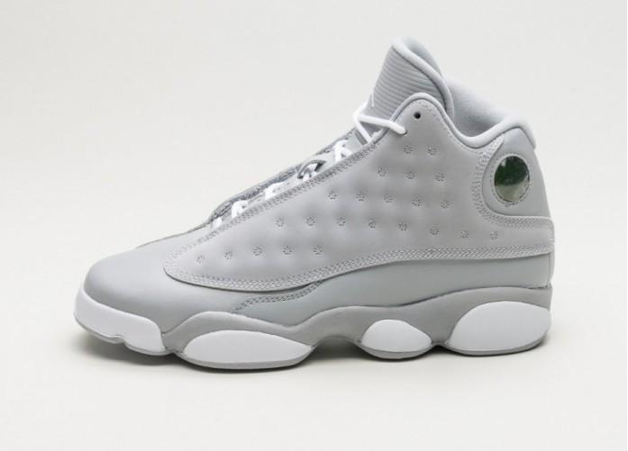 Мужские кроссовки Nike Air Jordan 13 Retro GG (Wolf Grey / White - Deadly Pink - White) | Интернет-магазин Sole
