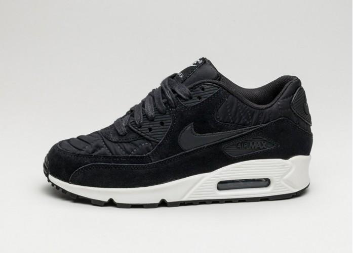 Женские кроссовки Nike Wmns Air Max 90 PRM (Black / Black - Ivory) | Интернет-магазин Sole