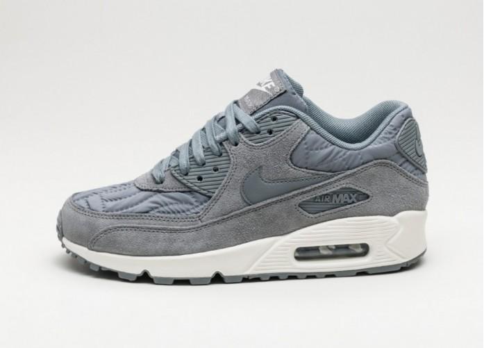 Мужские кроссовки Nike Wmns Air Max 90 PRM (Cool Grey / Cool Grey - Ivory) | Интернет-магазин Sole