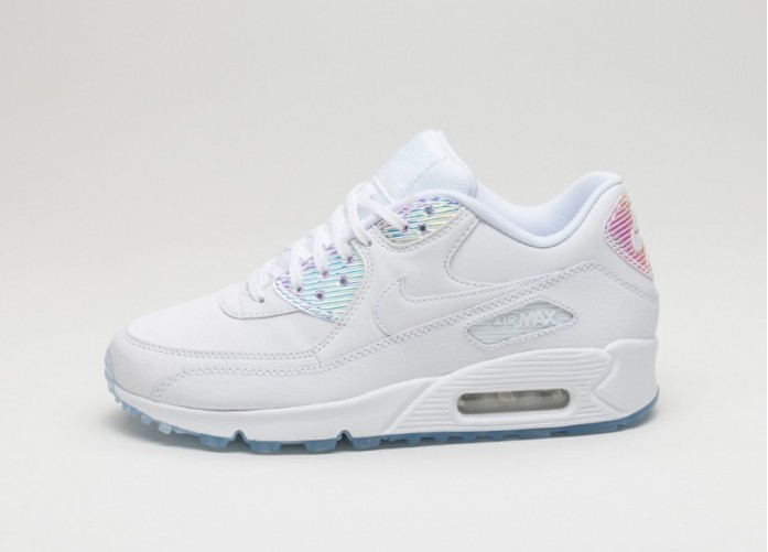 Мужские кроссовки Nike Wmns Air Max 90 PRM (White / White - Blue Tint) | Интернет-магазин Sole