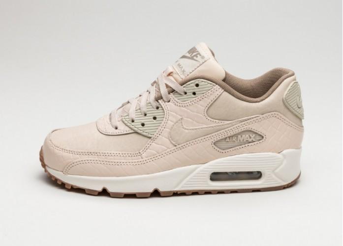 Женские кроссовки Nike Wmns Air Max 90 PRM (Oatmeal / Oatmeal - Sail - Khaki) | Интернет-магазин Sole