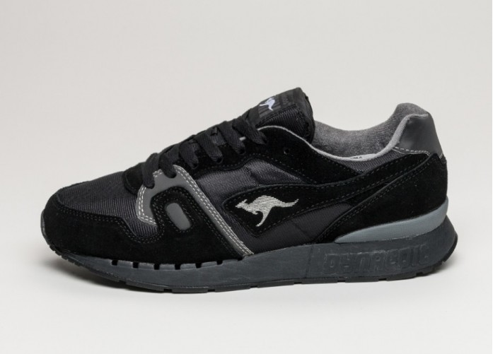 Мужские кроссовки Kangaroos Omnicoil II (Black / Dark Grey) | Интернет-магазин Sole