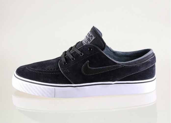 Мужские кроссовки Nike SB Zoom Stefan Janoski SE (Black / Black - White - Gum Light Brown) | Интернет-магазин Sole