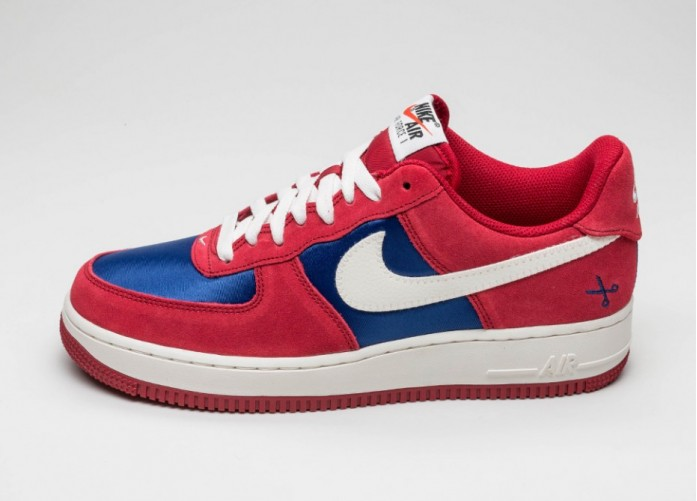 Мужские кроссовки Nike Air Force 1 (Gym Red / Sail - Deep Royal Blue) | Интернет-магазин Sole