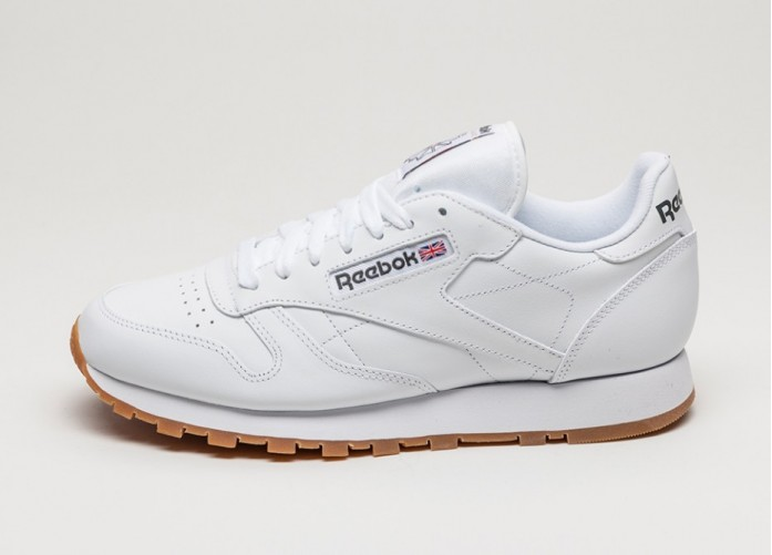 Мужские кроссовки Reebok Classic Leather (White / Gum) | Интернет-магазин Sole