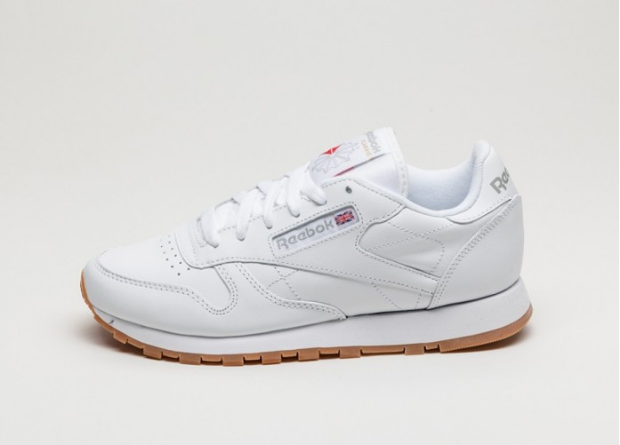 Мужские кроссовки Reebok Classic Leather W (White / Gum) | Интернет-магазин Sole