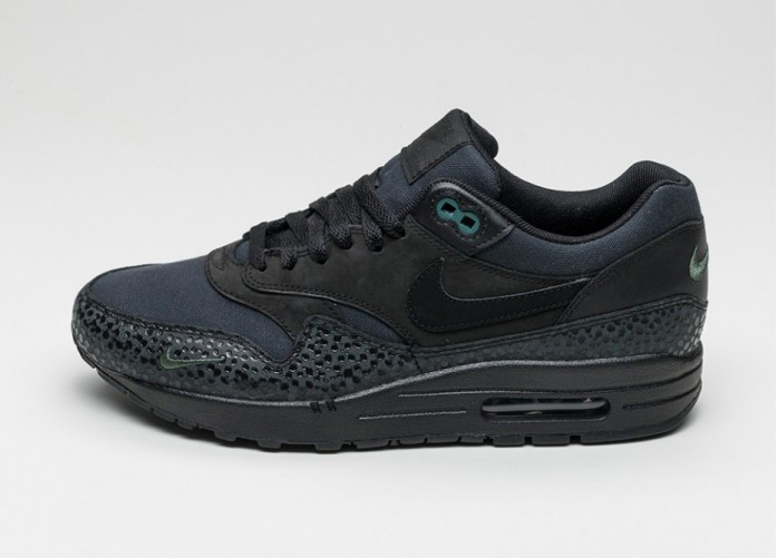 Мужские кроссовки Nike Air Max 1 PRM (Black / Black - Bonsai) | Интернет-магазин Sole