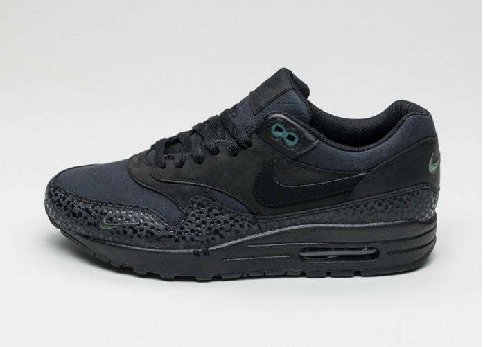 Мужские кроссовки Nike Air Max 1 PRM (Black / Black - Bonsai) | Интернет-магазин Sole