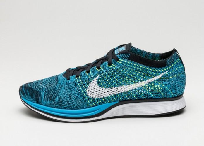 Мужские кроссовки Nike Flyknit Racer (Blue Glow / White - Black) | Интернет-магазин Sole