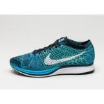 Мужские кроссовки Nike Flyknit Racer (Blue Glow / White - Black), фото 1 | Интернет-магазин Sole