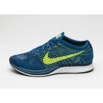 Мужские кроссовки Nike Flyknit Racer (Brave Blue / Volt - Squadron Blue), фото 1 | Интернет-магазин Sole