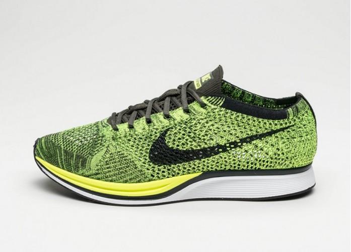 Мужские кроссовки Nike Flyknit Racer (Volt / Black - Sequoia) | Интернет-магазин Sole