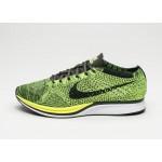 Мужские кроссовки Nike Flyknit Racer (Volt / Black - Sequoia), фото 1 | Интернет-магазин Sole