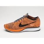 Мужские кроссовки Nike Flyknit Racer (Total Orange / White - Dark Grey), фото 1 | Интернет-магазин Sole
