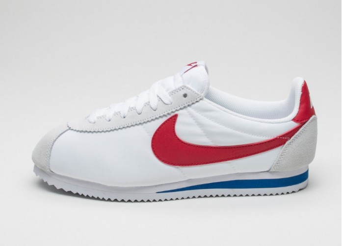 Мужские кроссовки Nike Classic Cortez Nylon (White / Varsity Red - Varsity Royal) | Интернет-магазин Sole