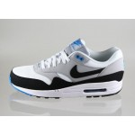 Мужские кроссовки Nike Air Max 1 Essential (WHITE / BLACK - WOLF GREY - PHOTO BLUE), фото 1 | Интернет-магазин Sole