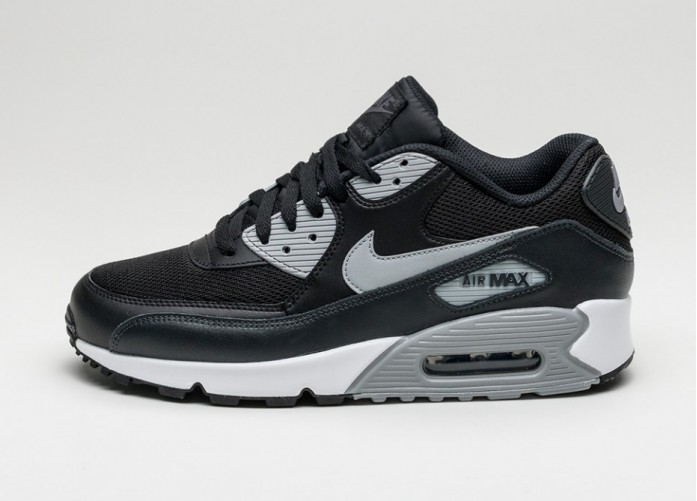 Мужские кроссовки Nike Air Max 90 Essential (Black / Wolf Grey - Anthracite - White) | Интернет-магазин Sole