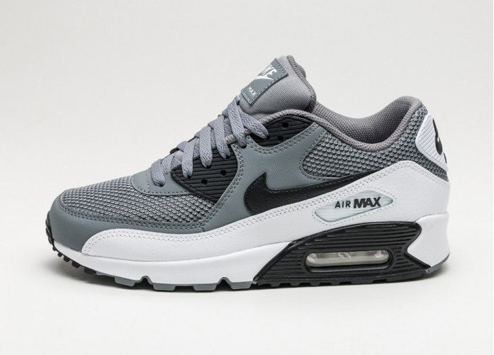 Мужские кроссовки Nike Air Max 90 Essential (Cool Grey / Black - White - White) | Интернет-магазин Sole