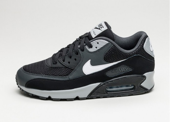 Мужские кроссовки Nike Air Max 90 Essential (Black / White - Anthracite - Wolf Grey) | Интернет-магазин Sole