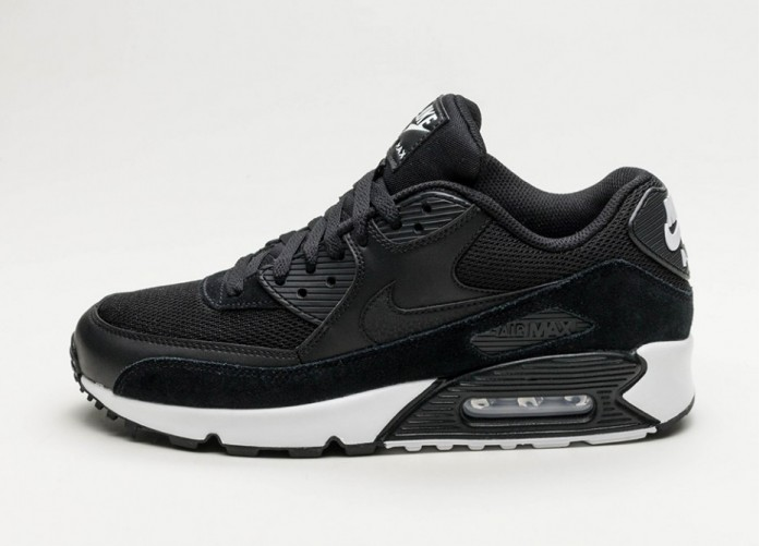 Мужские кроссовки Nike Air Max 90 Essential (Black / Black - White) | Интернет-магазин Sole