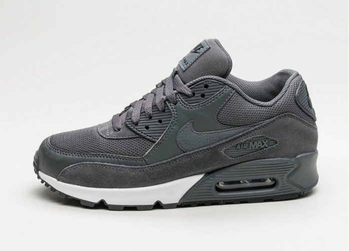 Мужские кроссовки Nike Air Max 90 Essential (Dark Grey / Dark Grey - Black - White) | Интернет-магазин Sole