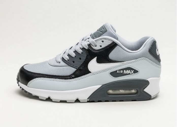 Мужские кроссовки Nike Air Max 90 Essential (Wolf Grey / White - Pure Platinum - Black) | Интернет-магазин Sole
