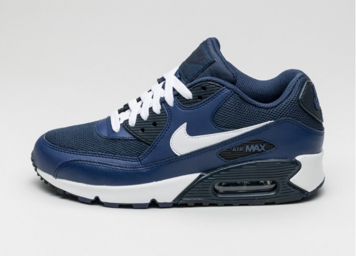 Мужские кроссовки Nike Air Max 90 Essential (Loyal Blue / White - Squadron Blue - Dark Obsidian) | Интернет-магазин Sole