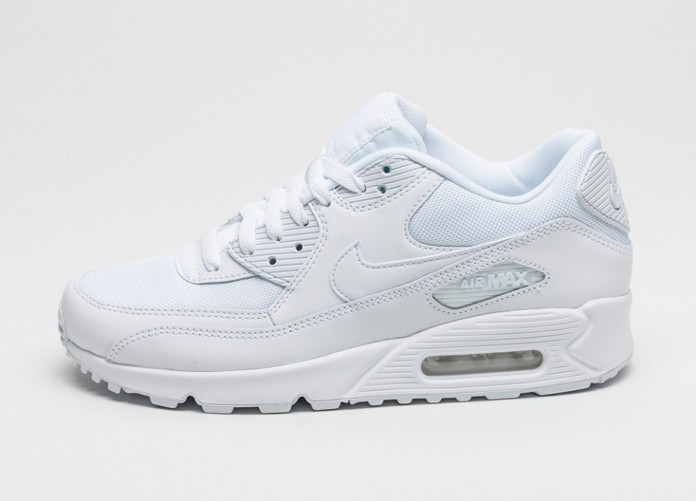 Мужские кроссовки Nike Air Max 90 Essential (White / White - White - White) | Интернет-магазин Sole