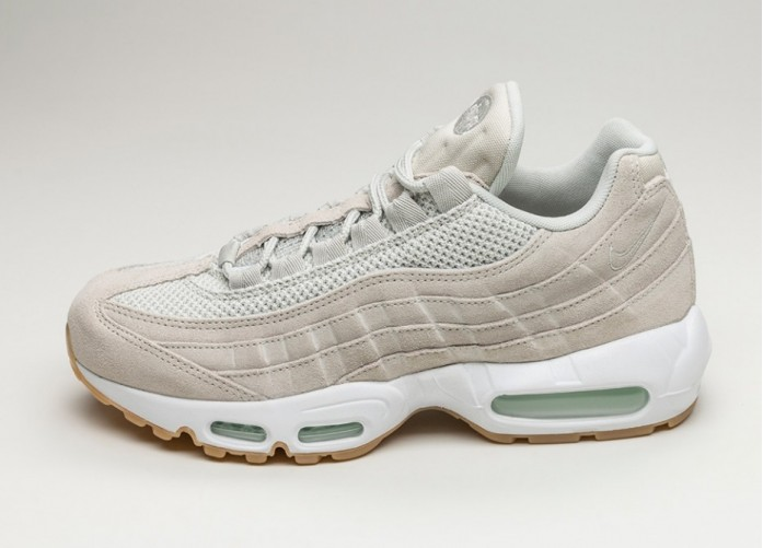 Мужские кроссовки Nike Air Max 95 Premium (Light Bone / Light Bone - Barely Green - White) | Интернет-магазин Sole