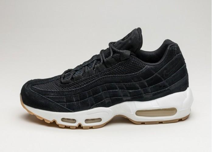 Мужские кроссовки Nike Air Max 95 Premium (Black / Black - Muslin - White) | Интернет-магазин Sole
