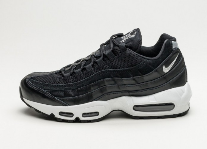 Мужские кроссовки Nike Air Max 95 Premium *Skulls* (Black / Chrome - Black - Off White) | Интернет-магазин Sole