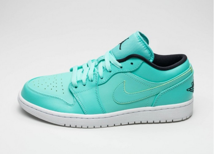 Мужские кроссовки Nike Air Jordan 1 Low (Hyper Turquoise / Black - White) | Интернет-магазин Sole