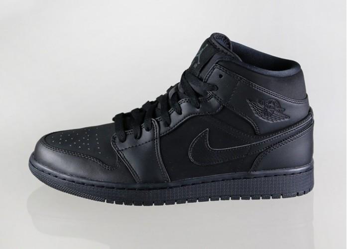 Мужские кроссовки Nike Air Jordan 1 (Black / Black - Black) | Интернет-магазин Sole