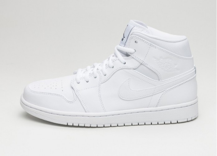 Мужские кроссовки Nike Air Jordan 1 Mid (White / Black - White) | Интернет-магазин Sole