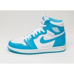 Мужские кроссовки Nike Air Jordan 1 Retro High OG *UNC* (White / Dark Powder Blue), фото 1 | Интернет-магазин Sole