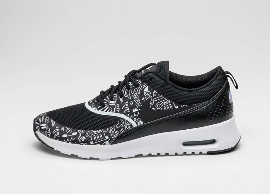 bc089b49 Мужские кроссовки Nike Wmns Air Max Thea Print (Black / White) | Интернет-