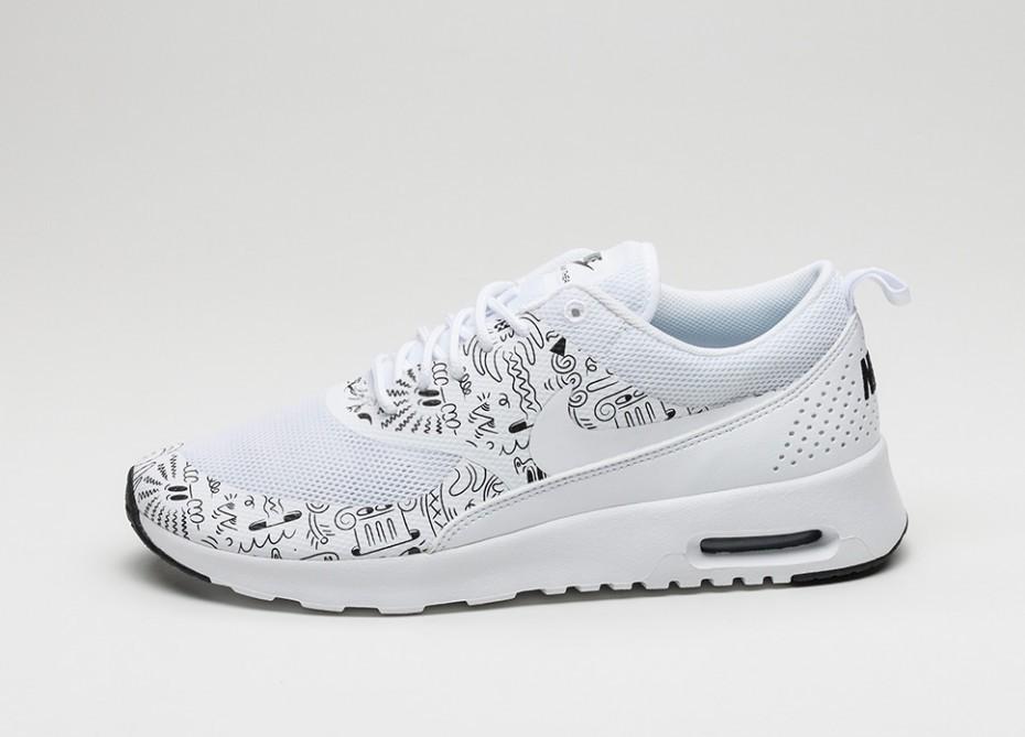 50ec8927 Мужские кроссовки Nike Wmns Air Max Thea Print (White / White - Black)