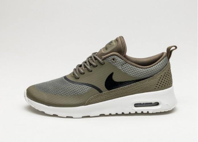 Мужские кроссовки Nike Wmns Air Max Thea (Medium Olive / Black - Summit White) | Интернет-магазин Sole