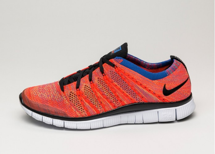 Мужские кроссовки Nike Free Flyknit NSW (Bright Crimson / Black - Green Strike - Gym Royal) | Интернет-магазин Sole