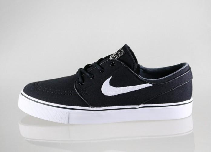 Мужские кроссовки Nike SB Zoom Stefan Janoski Canvas (Black / White - Gum Light Brown - Metallic) | Интернет-магазин Sole