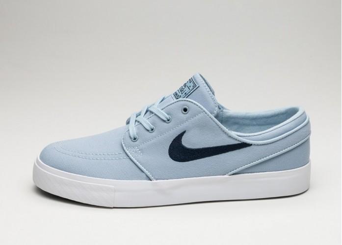 Мужские кроссовки Nike SB Zoom Stefan Janoski Canvas (Light Armory Blue / Obsidian) | Интернет-магазин Sole