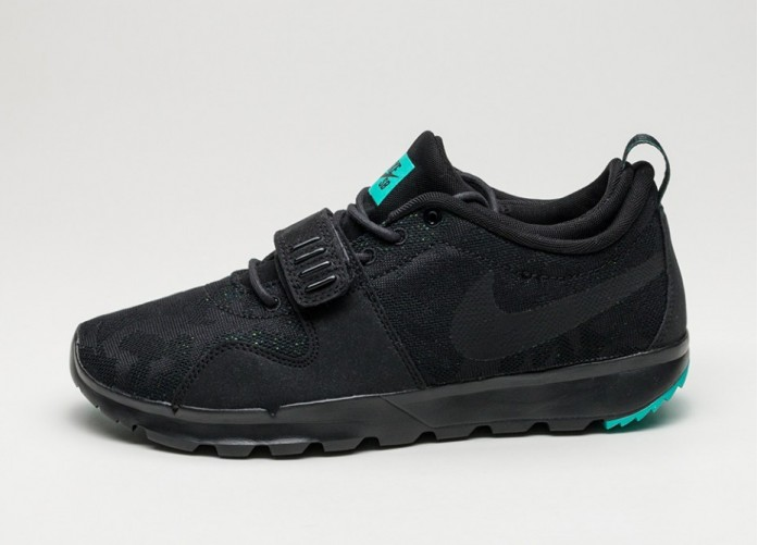 Мужские кроссовки Nike SB Trainerendor *Rip Reveal* (Black / Black - Clear Jade - Volt) | Интернет-магазин Sole