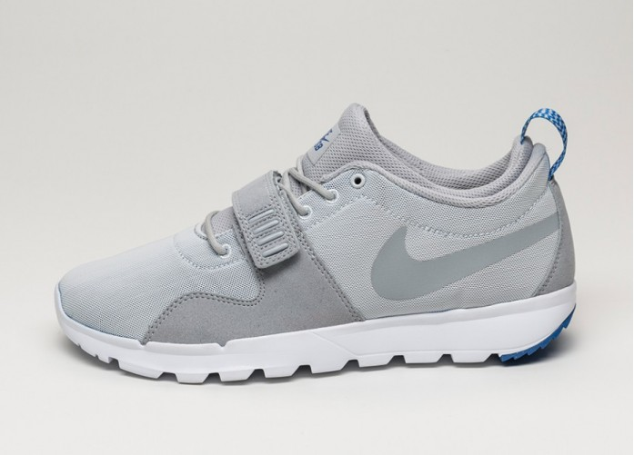 Мужские кроссовки Nike SB Trainerendor (Pure Platinum / Wolf Grey - Gum Royal - White) | Интернет-магазин Sole